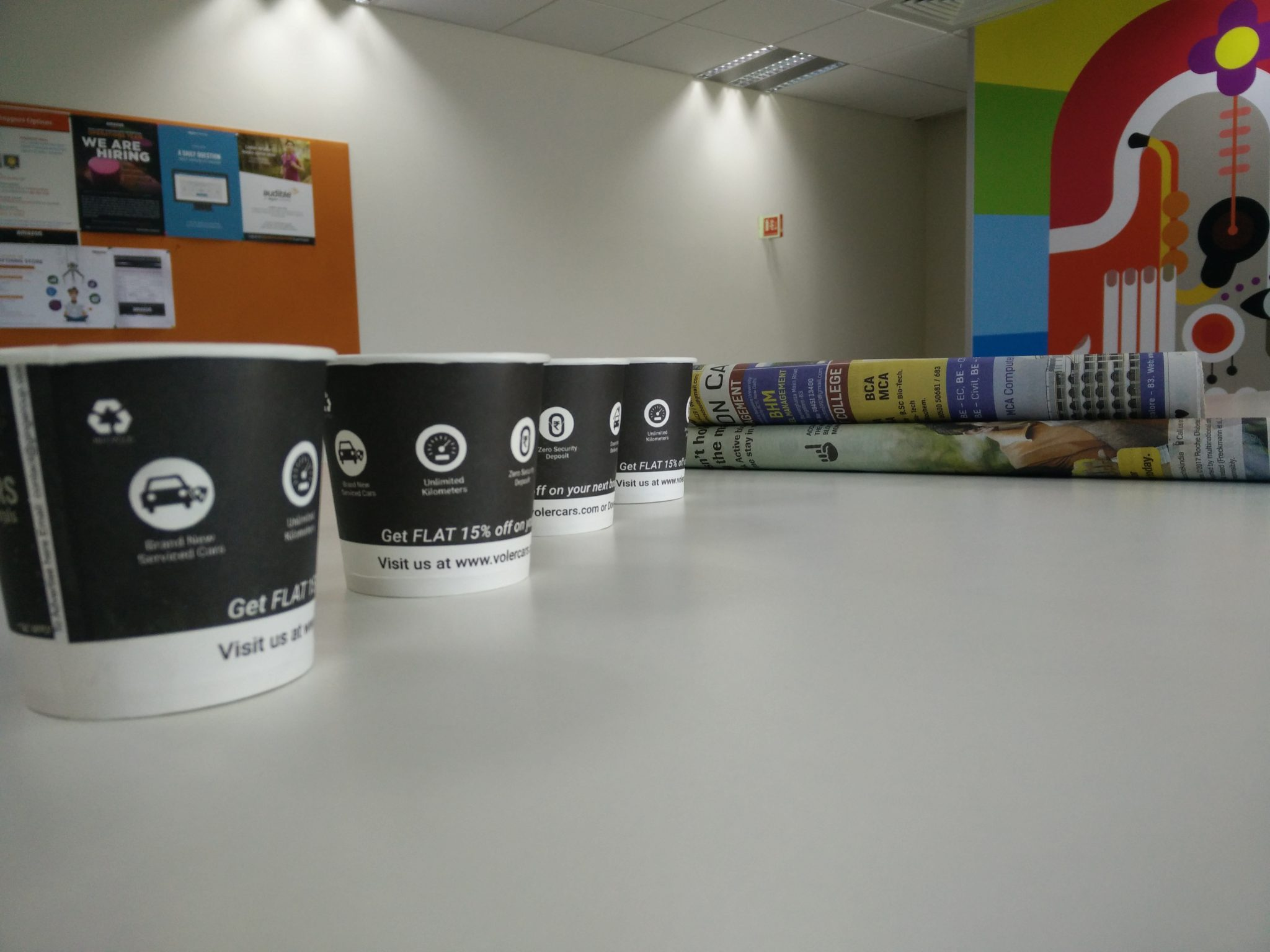 coffee cup advertising in Bangalore
