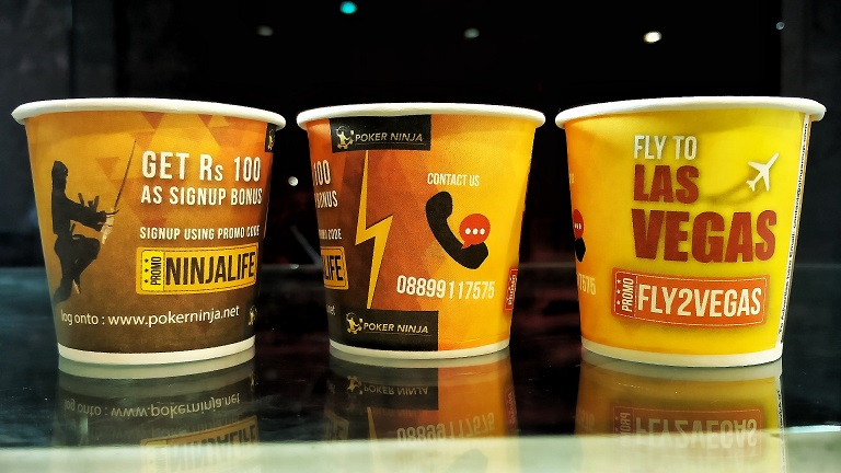 paper cup marketing by GingerCup