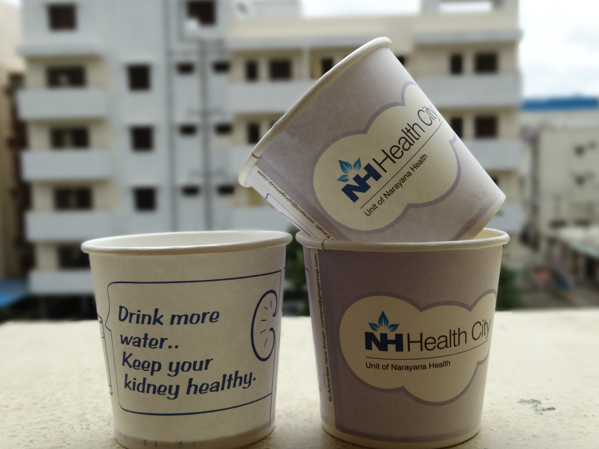 cup advertising for NH Hospitals