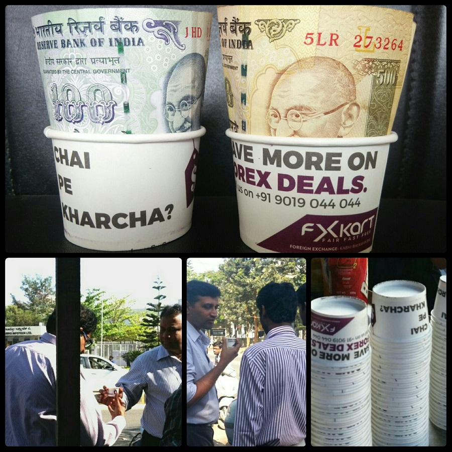 paper cup advertising in Bangalore
