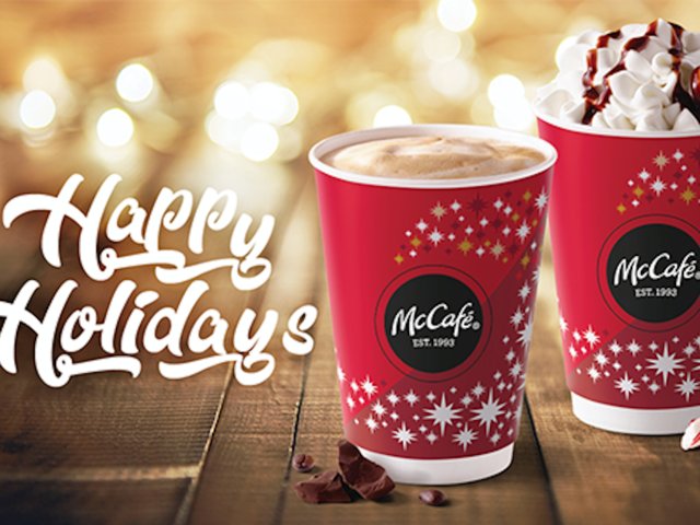 holiday advertising on paper cups