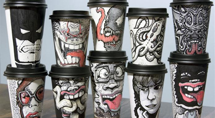 Paper Cup Advertising with Creative Art Work-Gingercup