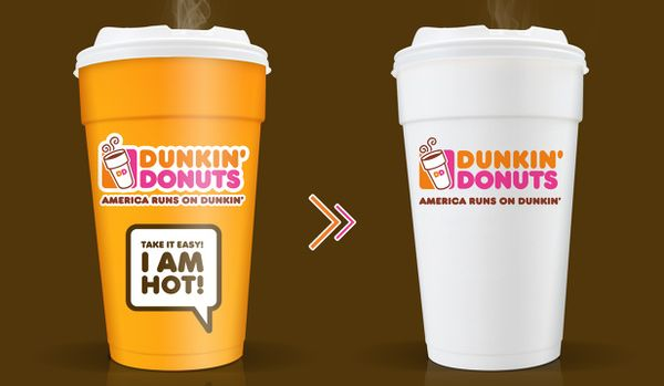 heat sensitive paper cups for Dunkin Donuts