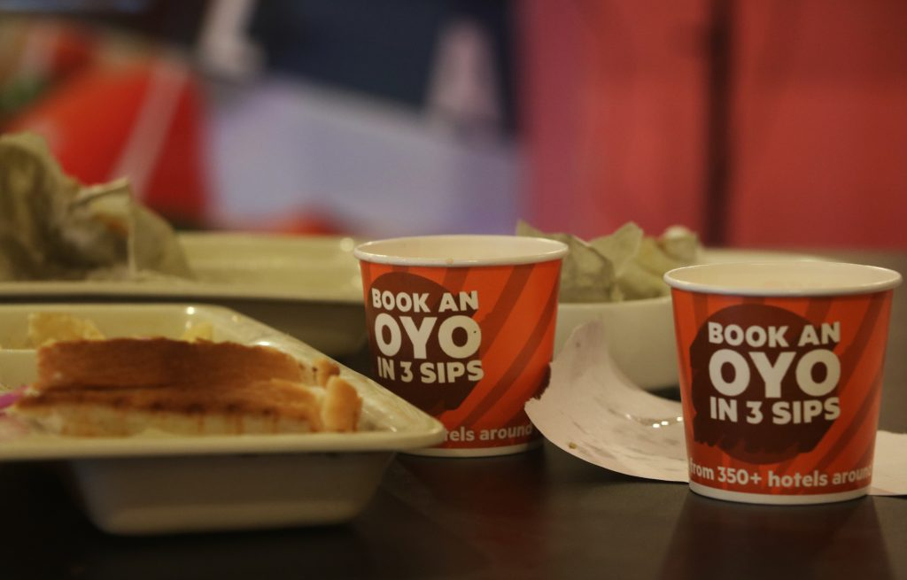 branded paper cup ads