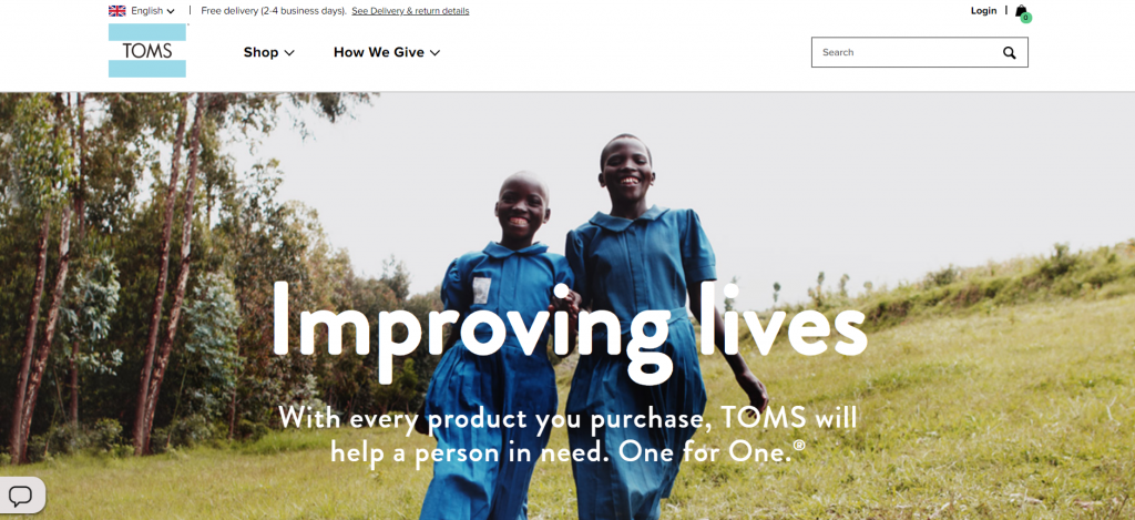 Toms shoes CSR activity to excite customers